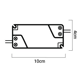 esquema driver dimmable de cálido a extracálido