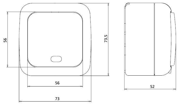 dimensiones interruptor de dos vias estanco viko panasonic