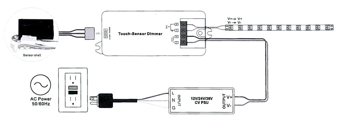 Dimmer interruptor diagrama de cable