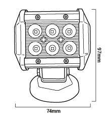 Medidas foco led para vehiculos