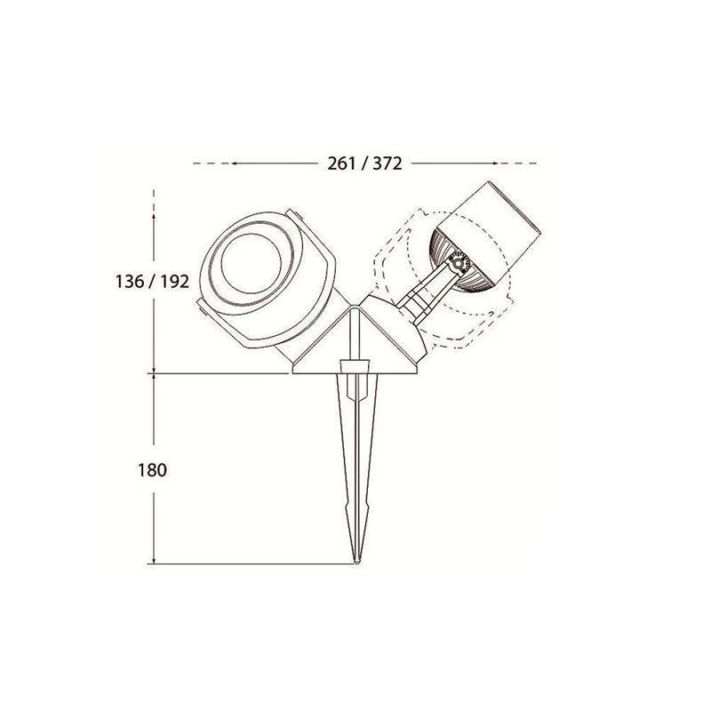 medidas estaca de jardín foco led minitommy 2l fumagalli