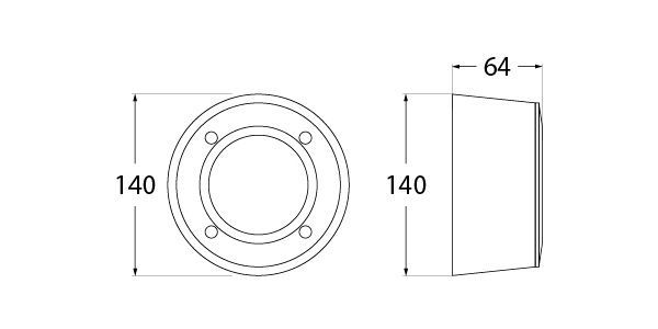medidas baliza aplique led fumagalli extraleti 100 round superficie