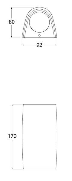 dimensiones marta 90 fumagalli aplique de pared gu10
