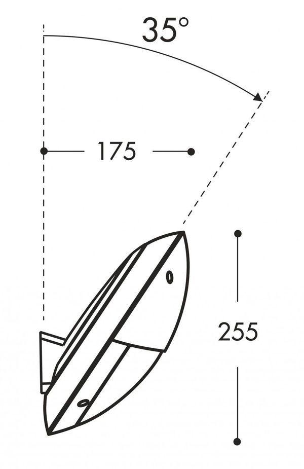 medidas aplique de pared remi maddi fumagalli e27 exterior
