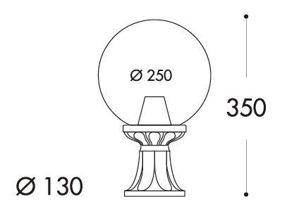 medidas farol de pie fumagalli mikrolot globo