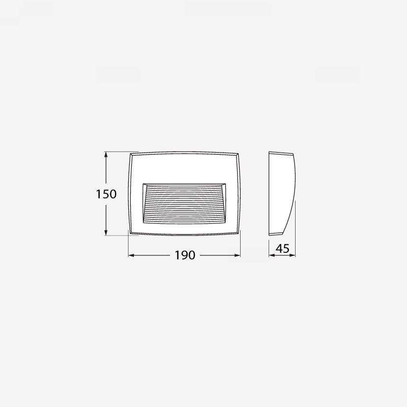 medidas baliza superficie fumagalli lorenza r7s led