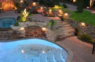 lámpara para piscina exterior terraza iluminación