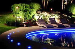 lámpara para piscina exterior jardín o terraza