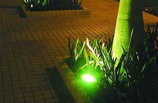 iluminación exterior con pichos y bombillas led