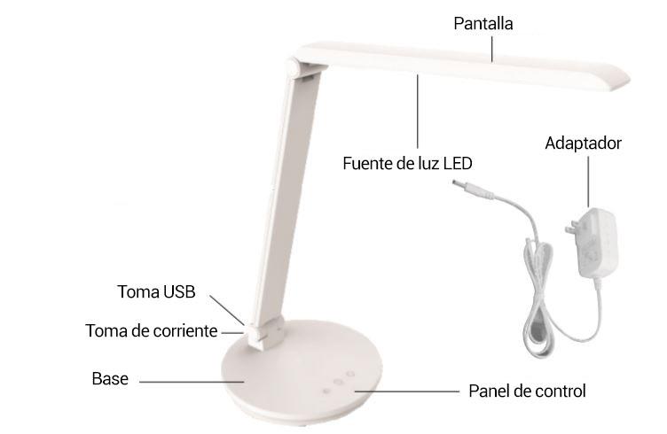 lámpara de mesa estructura