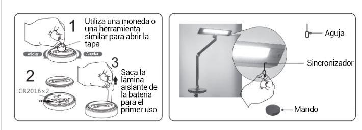 lámparas de mesa con mando