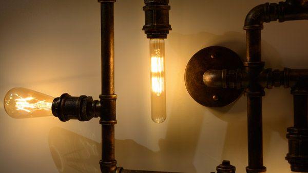 Vintage Blog Tuyauterie Un Lampe Pour Et Style Industriel B·led En vmwO8n0N
