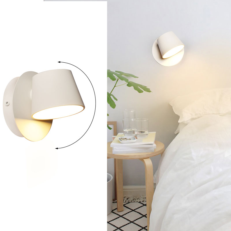 apliques de pared LED rotatorio
