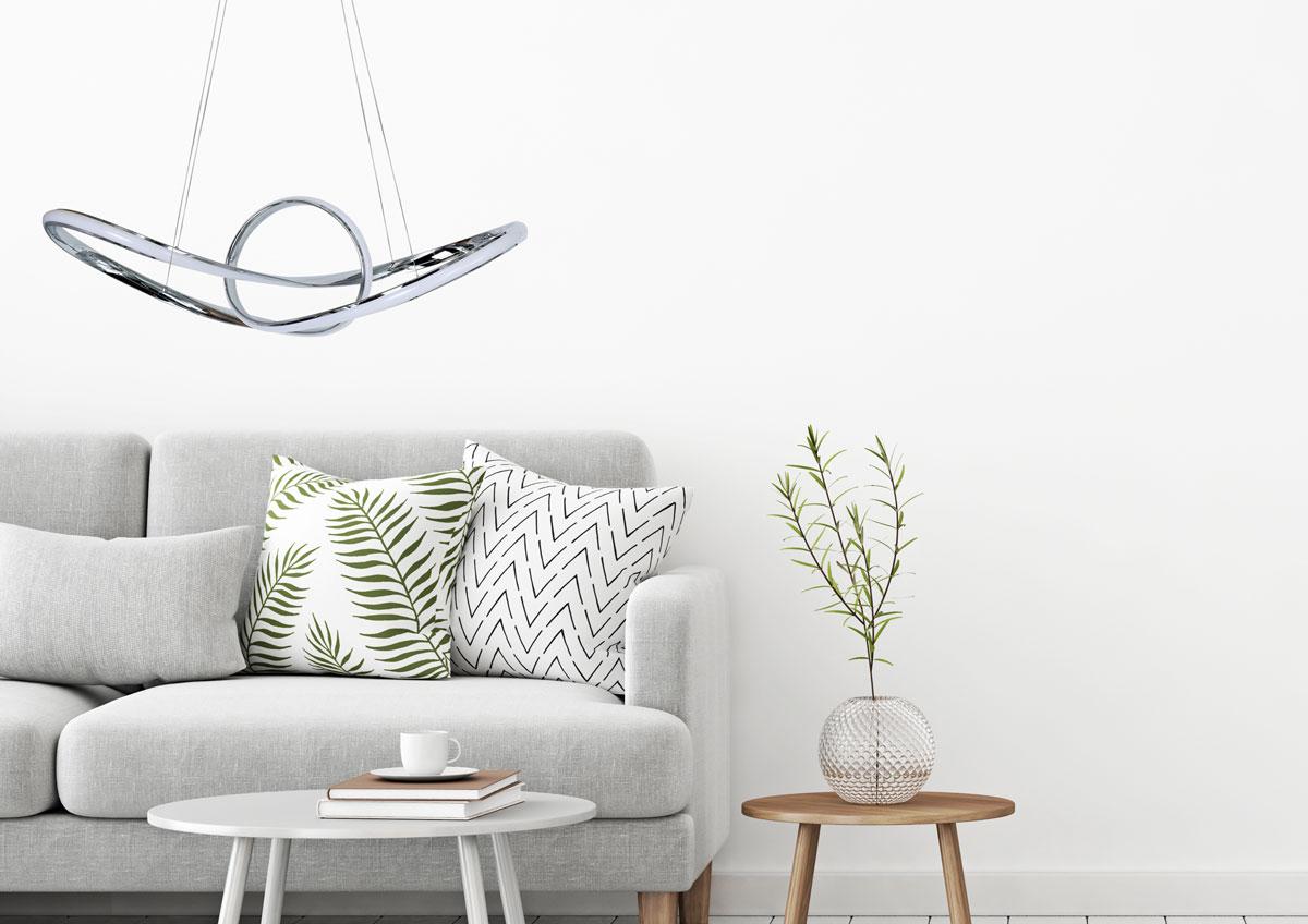 lámpara colgante LED en salón