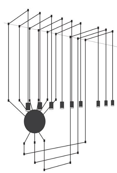 dimensiones lámpara colgante