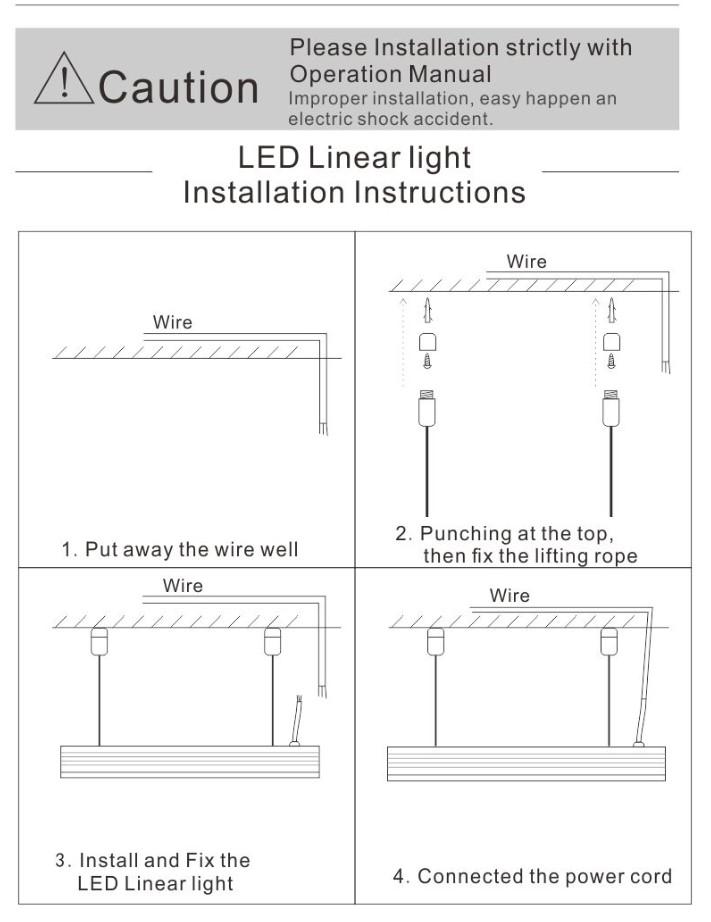 instrucciones led linear light