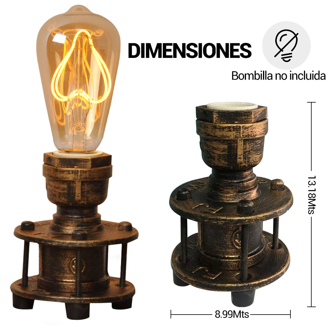 Lámpara de mesa vintage