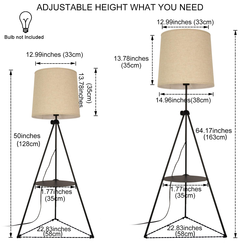 lámpara de pie ajustable