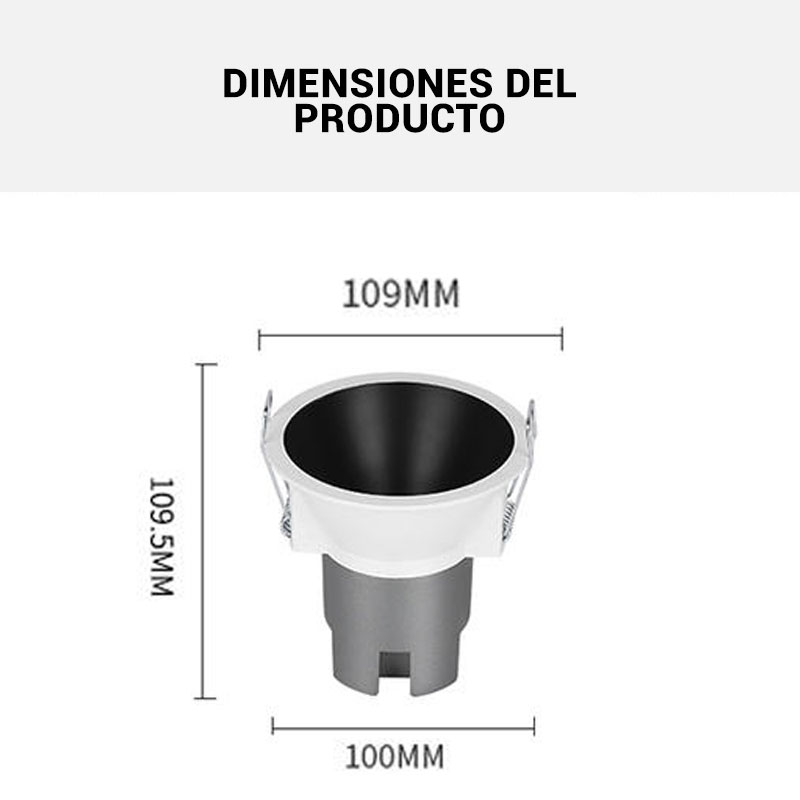Dimensiones focos LED
