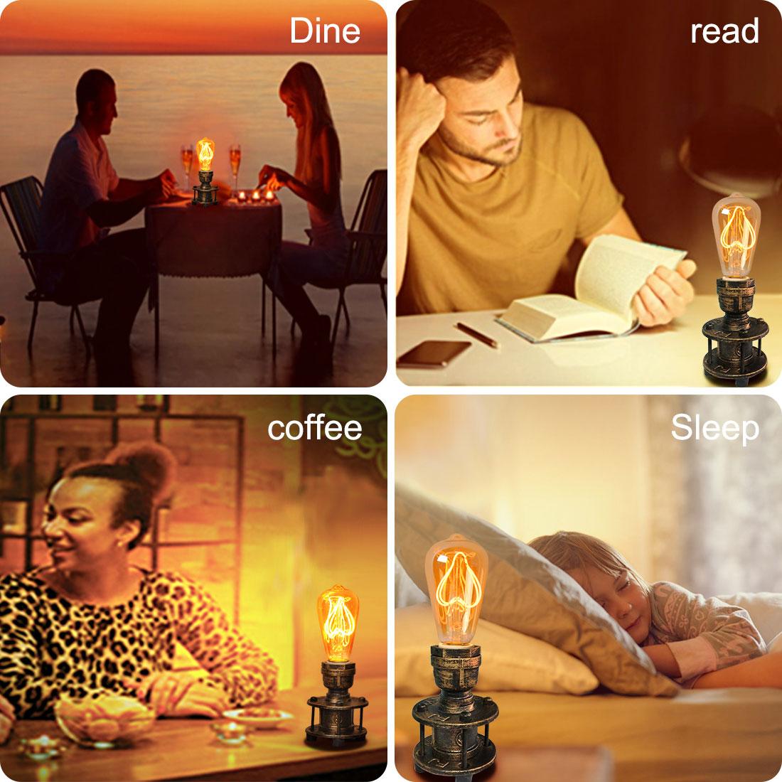 lámparas de mesa en aplicación