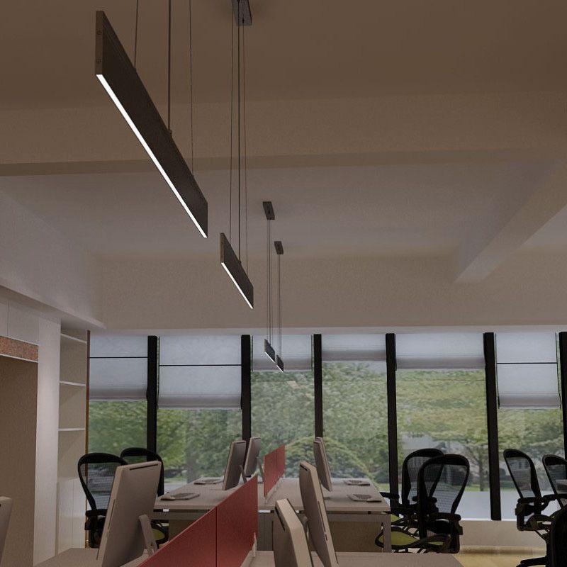 lampara lineal led colgante 120cm