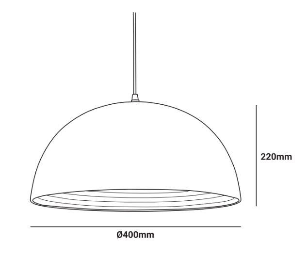medidas lampara colgante bulet e27