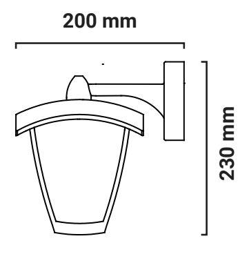 medidas aplique farol sodas exterior ip27