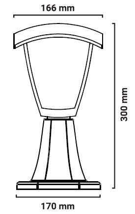 medidas farol de pie soda exterior e27