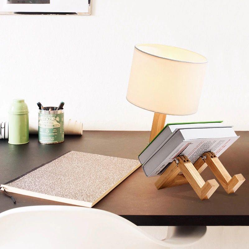 lampara de mesa yoki madera muñeco