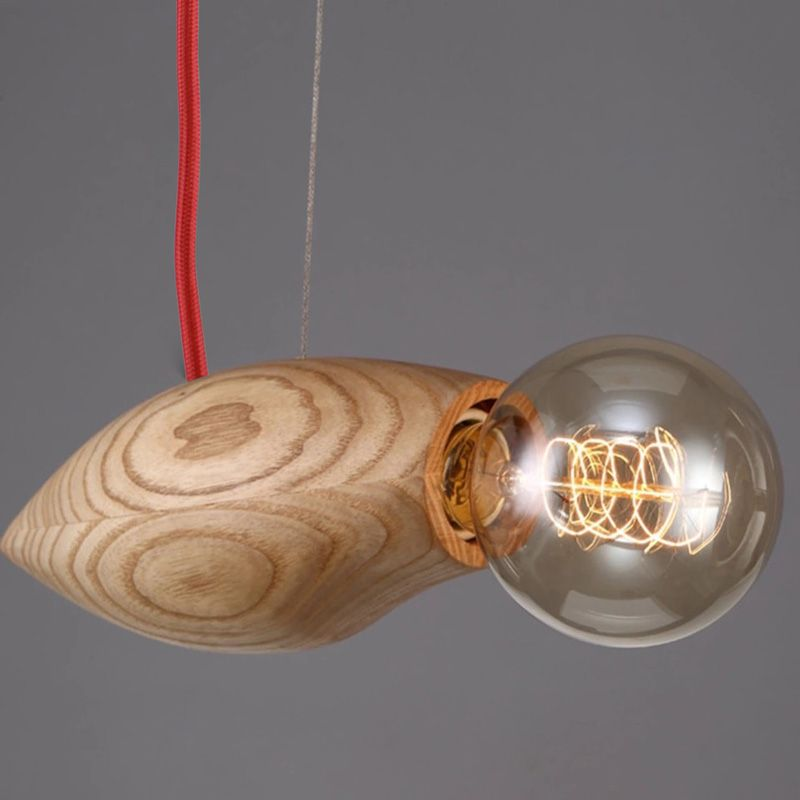 lampara colgante madera