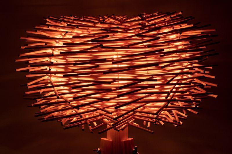 detalle lampara de pie madera cactus e27 tripode