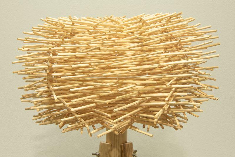 detalle lampara de pie cactus madera e27
