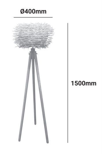 medidas lampara de pie cactus e27 madera