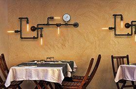 lampara vintage tubería