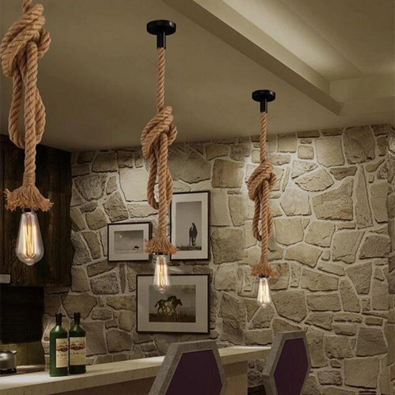 lampara de cuerda colgante
