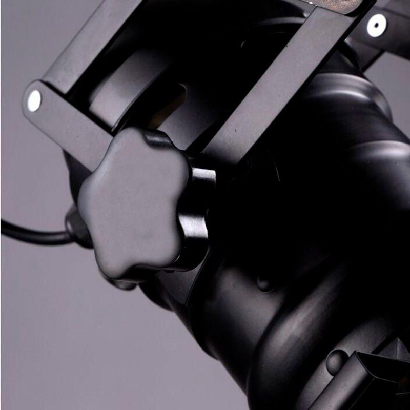 detalle lampara de techo metal industrial CINEMA