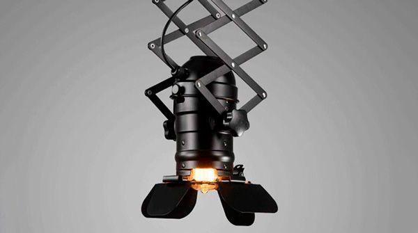 lampara de techo extensible industrial vintage cinema e27
