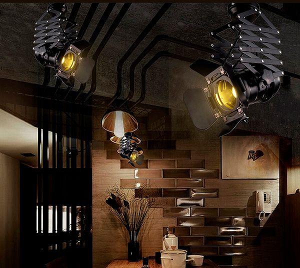 lampara de techo industrial vintage E27 cinema