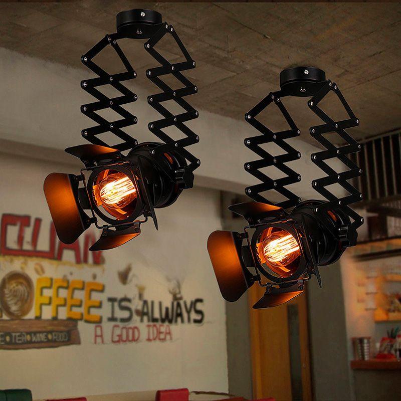 lampara colgante de techo industrial vintage fuelle e27 cinema