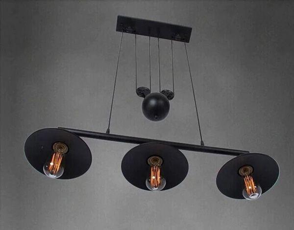 lampara colgante de poleas