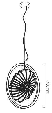 medidas lampara colgante ventilador curtis e27