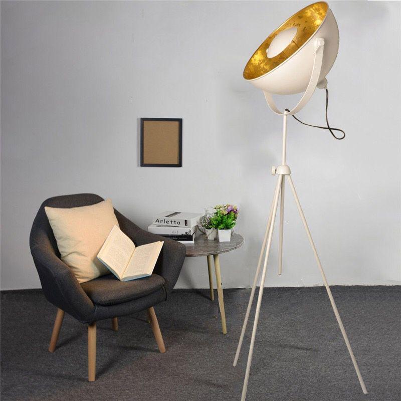 lampara de pie tripode galileo blanca