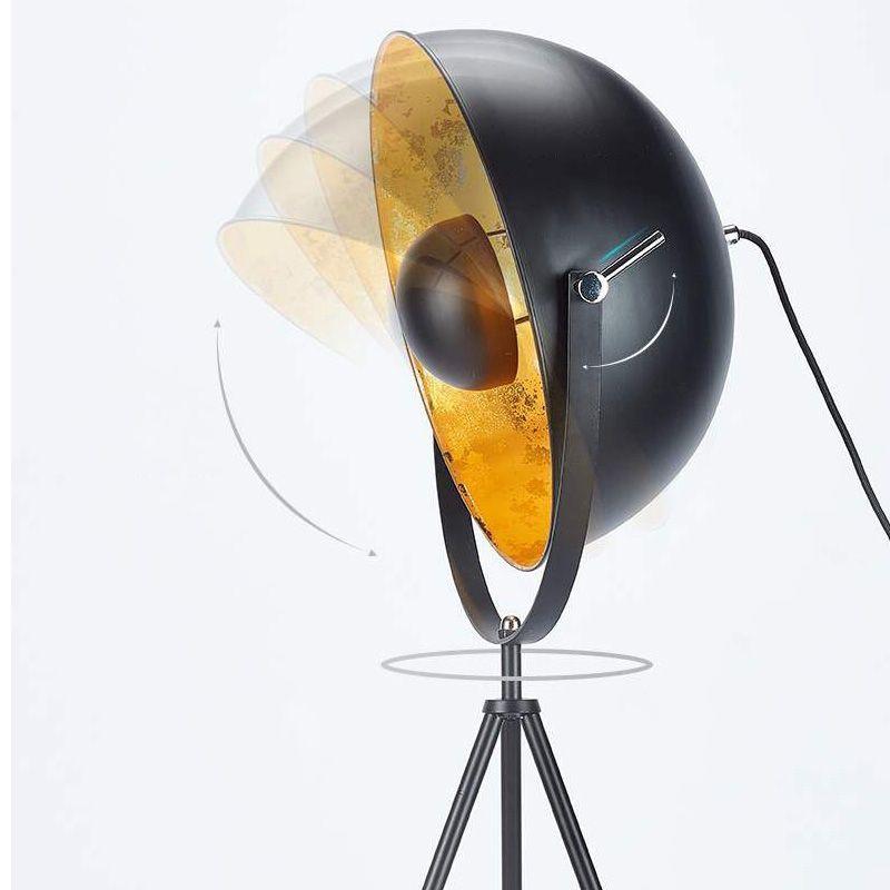 lampara de pie galileo tripode dorado
