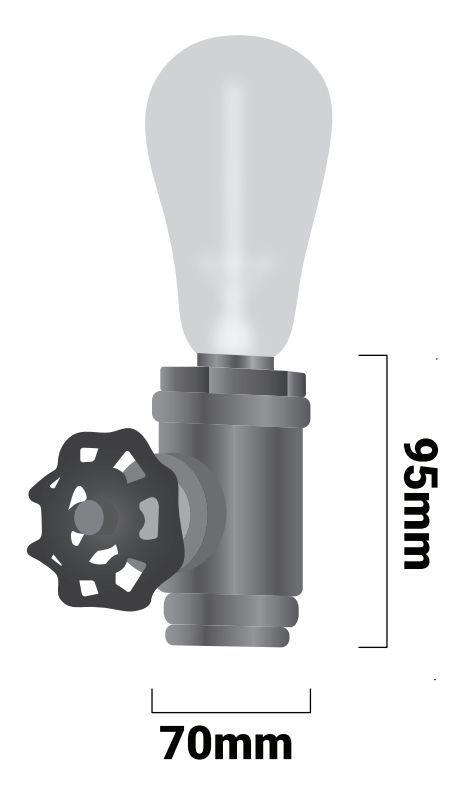 dimensiones lampara de mesa luxxo tuberia