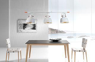 Lámpara nórdica con tono minimalista