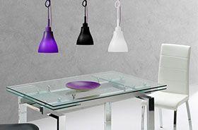 decoración del hogar con lámparas de colores