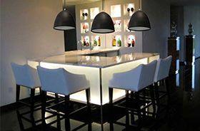 iluminación de cocina con lámparas de silicona