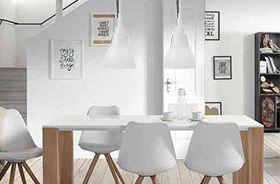decoración con lámparas blancas en el hogar