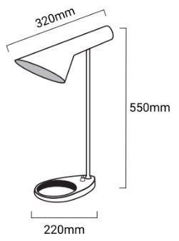medidas lampara de mesa marlene