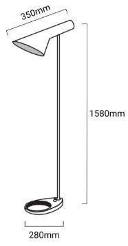 medidas lampara de pie marlene